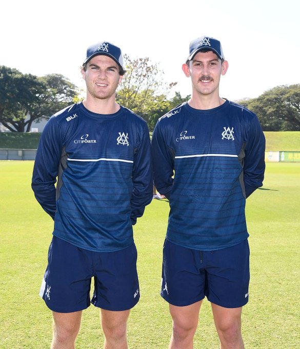 Our two debutants! Play just 10 mins away now #JLTCup #vicsdoitbetter WATCH 📺: Photo