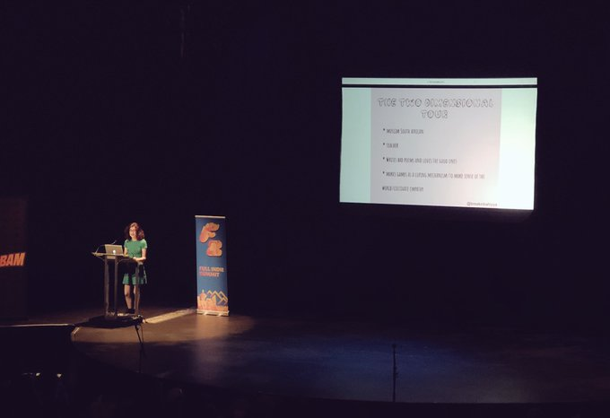 The emotions continue to flow and @BreakinBahiyya talk was super honest and very wonderful. Thank you for sharing #FullIndieSummit Photo