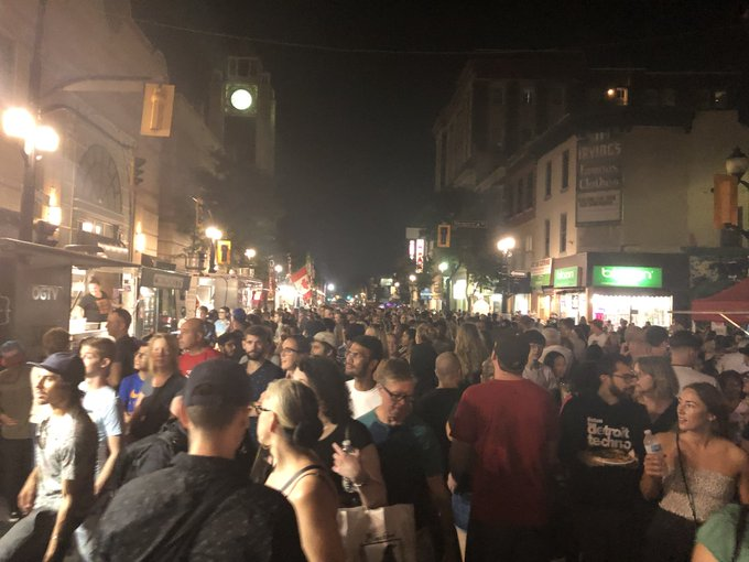 Can you say busy street? 10th anniversary of @supercrawl in #HamOnt Photo