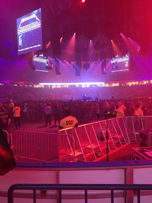 Pretty damn good seats for getting them last night!! @SaskTelCtr #MetInSaskatoon Photo