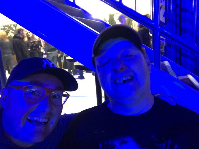 Danny and I are ready for @Metallica!! #MetInSaskatoon @SaskTelCtr Photo
