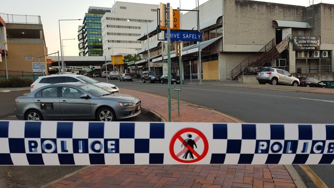 #BREAKING: A man has died after being shot by police outside Ipswich train station, west of Brisbane, earlier this afternoon. Photo