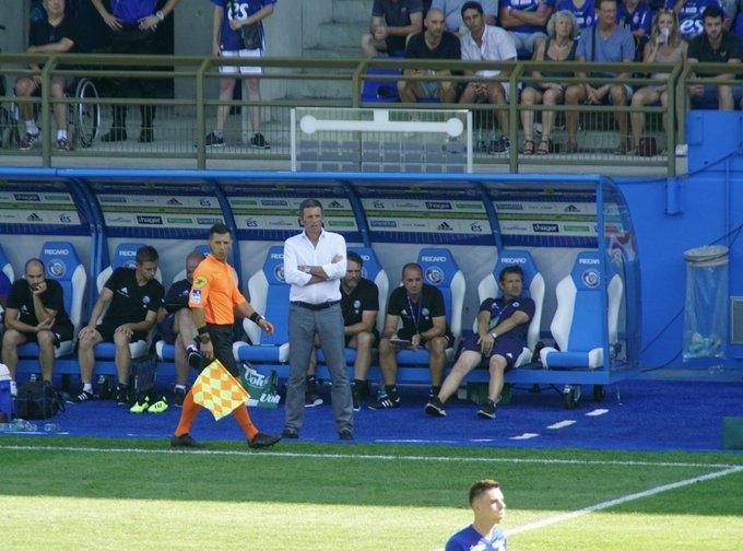 📊 Depuis la saison dernière, Thierry Laurey a fait entrer en jeu 9️⃣ fois un joueur qui a marqué un but pour le @RCSA 👃 ! Sur cette période, seuls Garcia et Jardim font plus en Ligue 1. #MHSCRCSA Photo