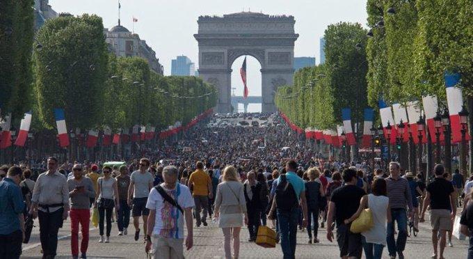 Bon dimanche 16 septembre, #JournéeSansVoiture : Paris Bruxelles Rome #MobilityWeek Photo