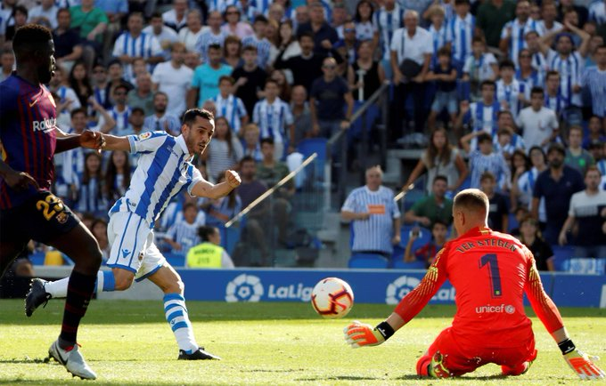 📰 [SPORT] | The message of Ter Stegen after his performance in Anoeta 🔶 Ter Stegen was decisive in the victory of Barcelona in Anoeta 🔷 The German had a brilliant performance against Real Sociedad in Anoeta Photo