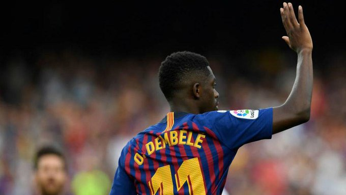 📰 [MARCA] | Allez Dembélé: the Frenchman joins the culé scoring party 🔶 The goals are no longer exclusive to Leo Messi and Luis Suárez 🔷 Dembélé has become a starter this season and a real member of the Barça trio Foto