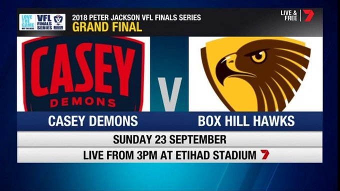 There you have it. We will play @BoxHillHawks in next weeks VFL Grand Final #PJVFL Photo