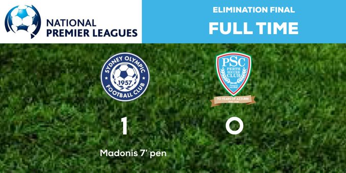 FULL TIME | The boys go down to an early penalty. Super performance by our young team. You've done the club and our State proud. #NPL2018FinalsSeries #ForzaAzzurri Photo