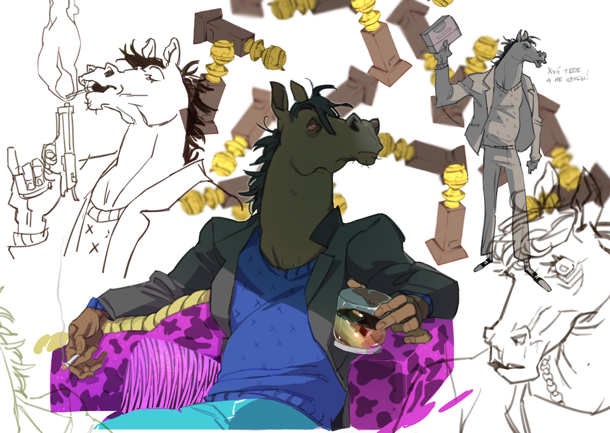 while #bojackhorseman has a new season i have an old fanart <br>http://pic.twitter.com/ZPVymW8F1g