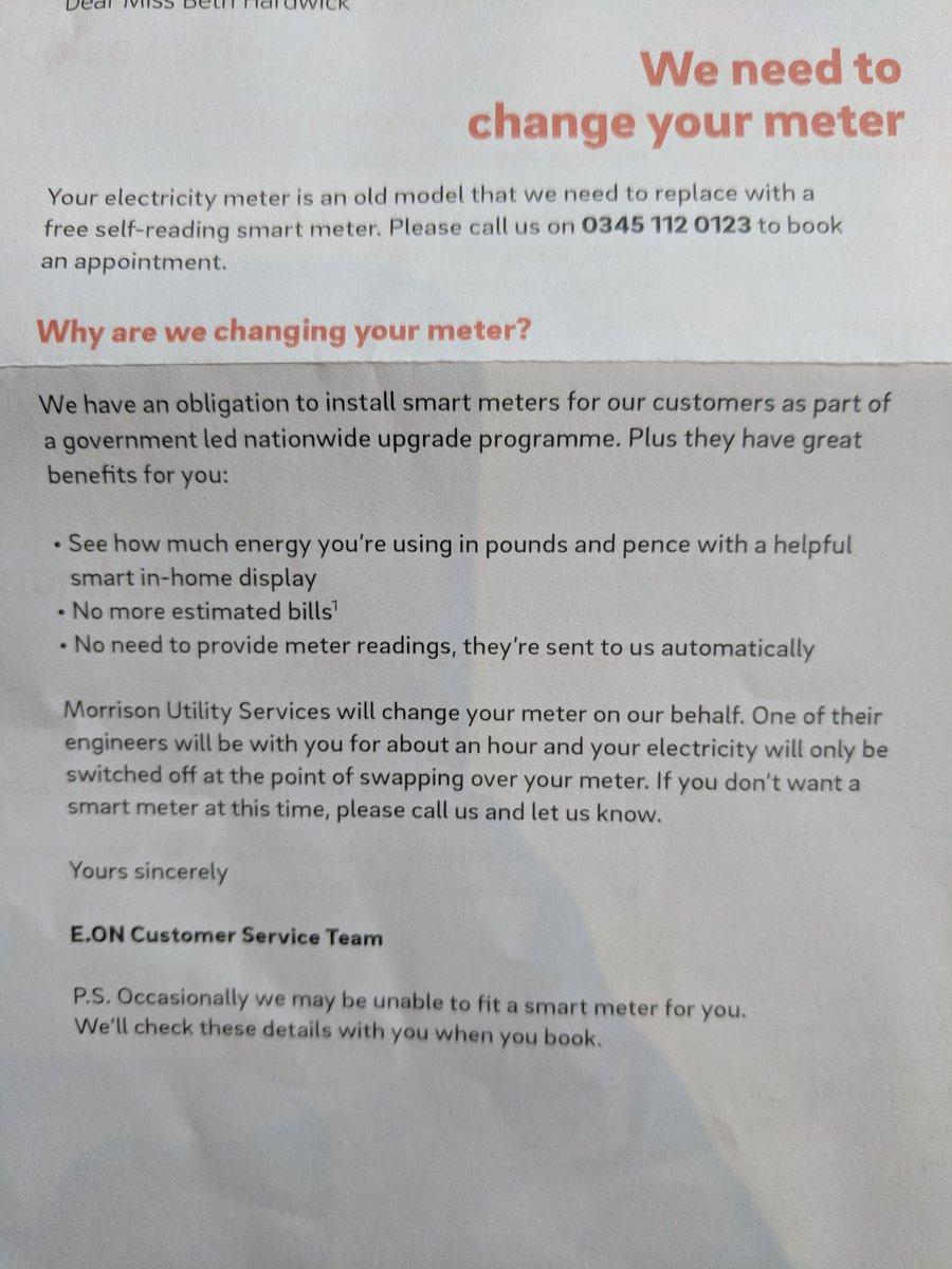 Smart Meter Opt Out Letter.Beth Hardwick Pa Twitter Why Are Eonenergyuk Sending