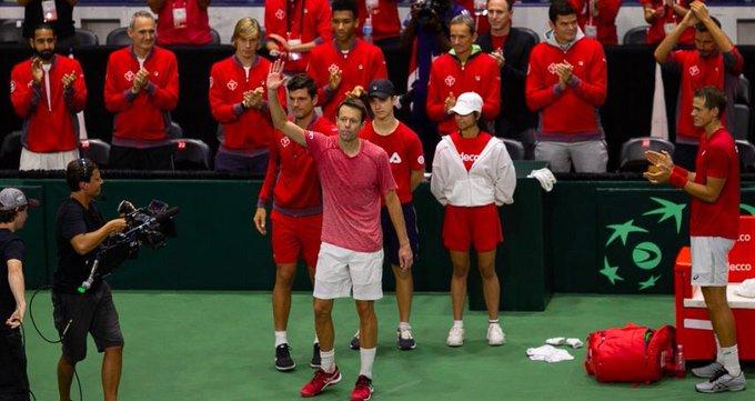 Daniel Nestor disputó ayer su último partido como tenista profesional. Hace dos semanas cumplía 46 años (el mismo día que Mark Knowles, con quien formó una de las parejas de dobles más temibles). Un tenista con más de 1000 victorias al que echaremos de menos en el circuito ATP. Photo