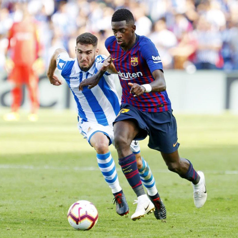 @Dembouz this season in @LaLigaEN : �� Valladolid ⚽ �� Huesca ⚽ �� Real Sociedad ⚽ 3⃣  games in a row scoring ��! https://t.co/cYxH7VN8n8