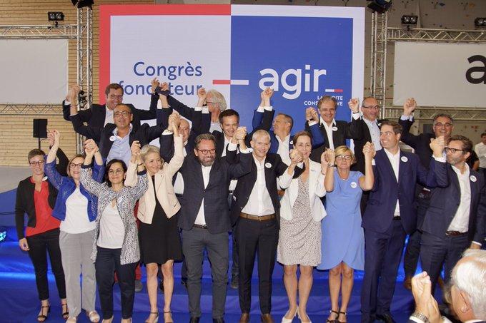 🔴 La naissance d'un parti, c'est aujourd'hui, et c'est au Congrès fondateur d'@agir_officiel !#CongresAgir #JePrefereAgir 🇫🇷🇪🇺 Photo