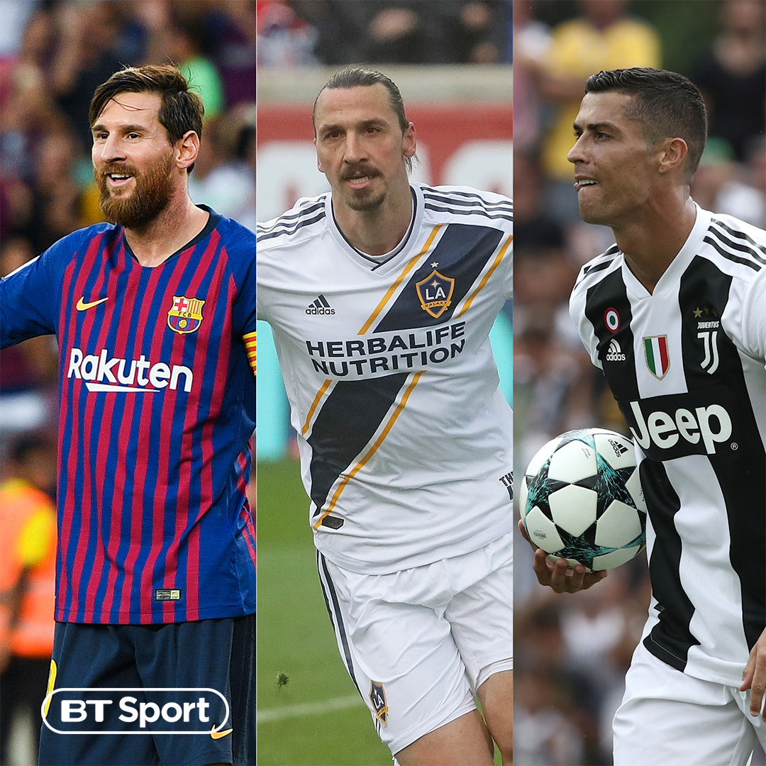 Club Zlatan Zlatan Ibrahimovic Joins Lionel Messi Cristiano Ronaldo Active Players Score Career Goals Football On Bt Sport Scoopnest