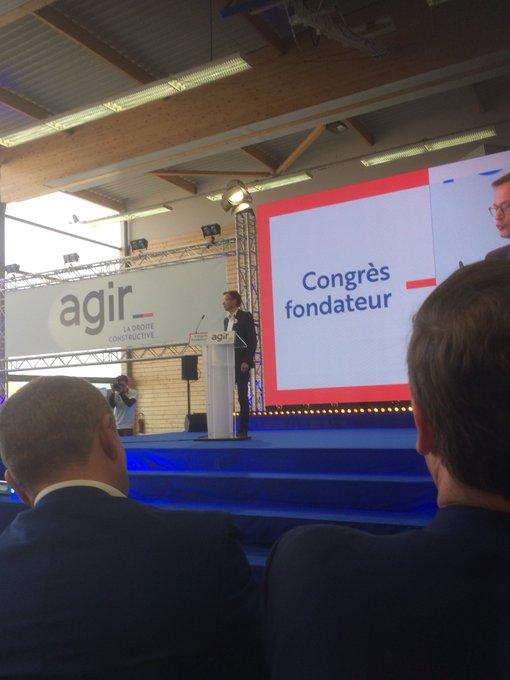 Discours éloquent de @pybournazel #congresAgir #AgirParis Photo
