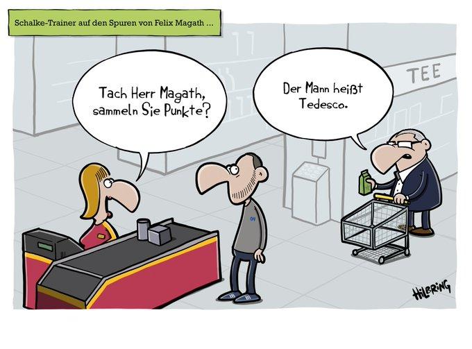 Neulich in einem Gelsenkirchener @OlisCartoons #Schalke #BMGS04 Foto