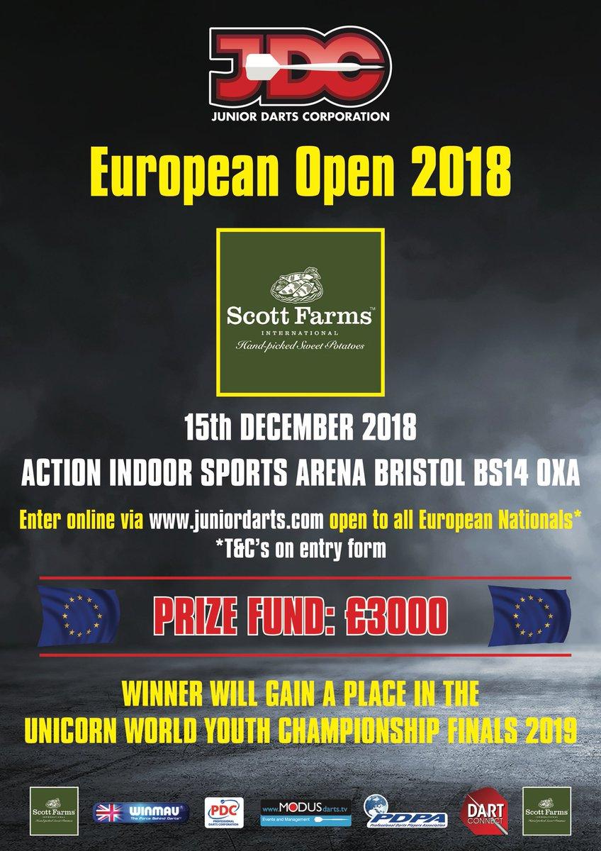 How does European Champion sound? Open to all European nationals. The trophy is ready, are you? Enter online jdcshop.net @OfficialPDC @ModusDarts180 @BradBrooks180 @DaveAllen1981 @ClubRileys @DartConnect @ChrisMurphy180 @JoshGreenMedia @JoshPhillips180 @Dazzmo1902