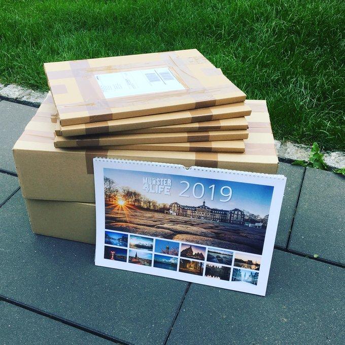 Wir haben am heutigen Sonntagmorgen die ersten 10 von 100 #ms4l Kalender 2019 Vorbestellungen gepackt 💛❤️⚪️ Ab jetzt auf Lager: - 12 jovele #Münster Motive für ein ganzes Jahr! 💪🏼 Foto