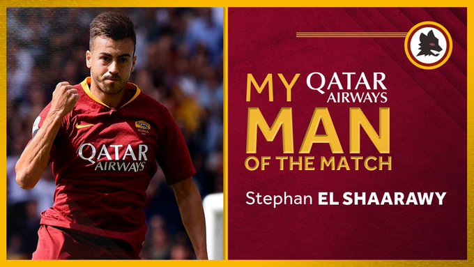 Retweet if Stephan El Shaarawy was your @qatarairways #ASRoma Man of the Match against Chievo. Foto