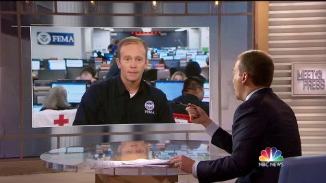 "UMMM ... FEMA head @FEMA_Brock, trying to justify TRUMP's challenges to post-Maria death toll stats: ""You might see more deaths indirectly as time goes on ... Spousal abuse goes through the roof. You can't blame spousal abuse after a disaster on anyone"""