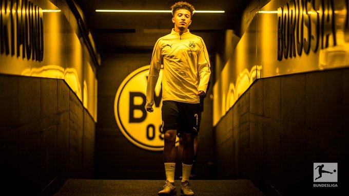 Kurz nach seiner Einwechslung bereitete @BVB-Rohdiamant @Sanchooo10 bei #BVBSGE stark das 2:1 vor - sein zweiter Assist bei erst 56 Spielminuten 👉 Foto