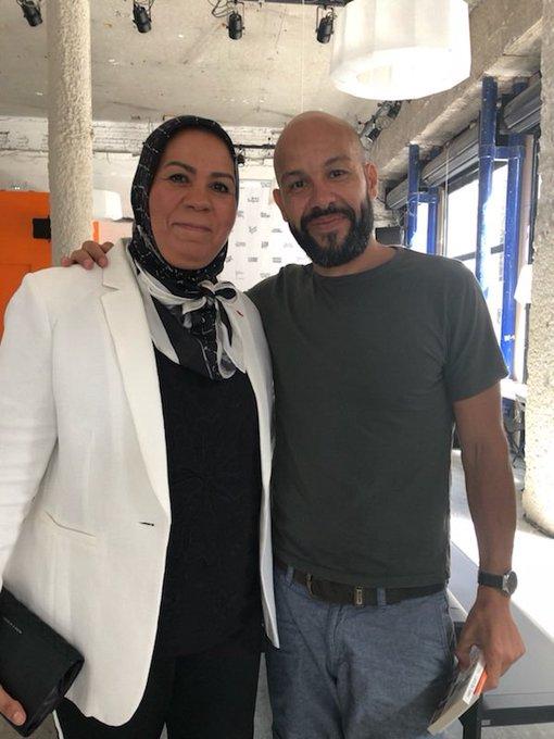 Bel échange autour de la danse, avec Mourad Marzouki, au café de la danse de Lyon #biennaledeladanse @BiennaleDanse Photo
