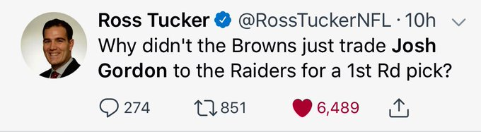 - @Browns the man has a point! Seriously! All those ups and downs with Josh Gordon for NOTHING! Photo