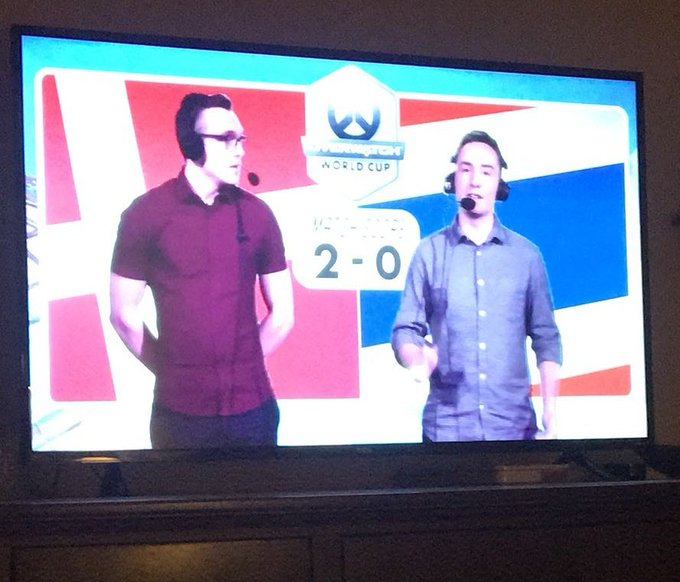 Had a huge amount of fun casting the #OWWC2018 matches with @BrenCasts this week, was great to get back on the mic. Hope you guys enjoyed all the awesome matches and us calling the action! Photo
