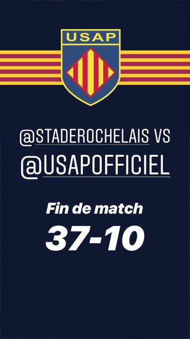 Fin de la rencontre @staderochelais vs @usap_officiel #SRUSAP Photo