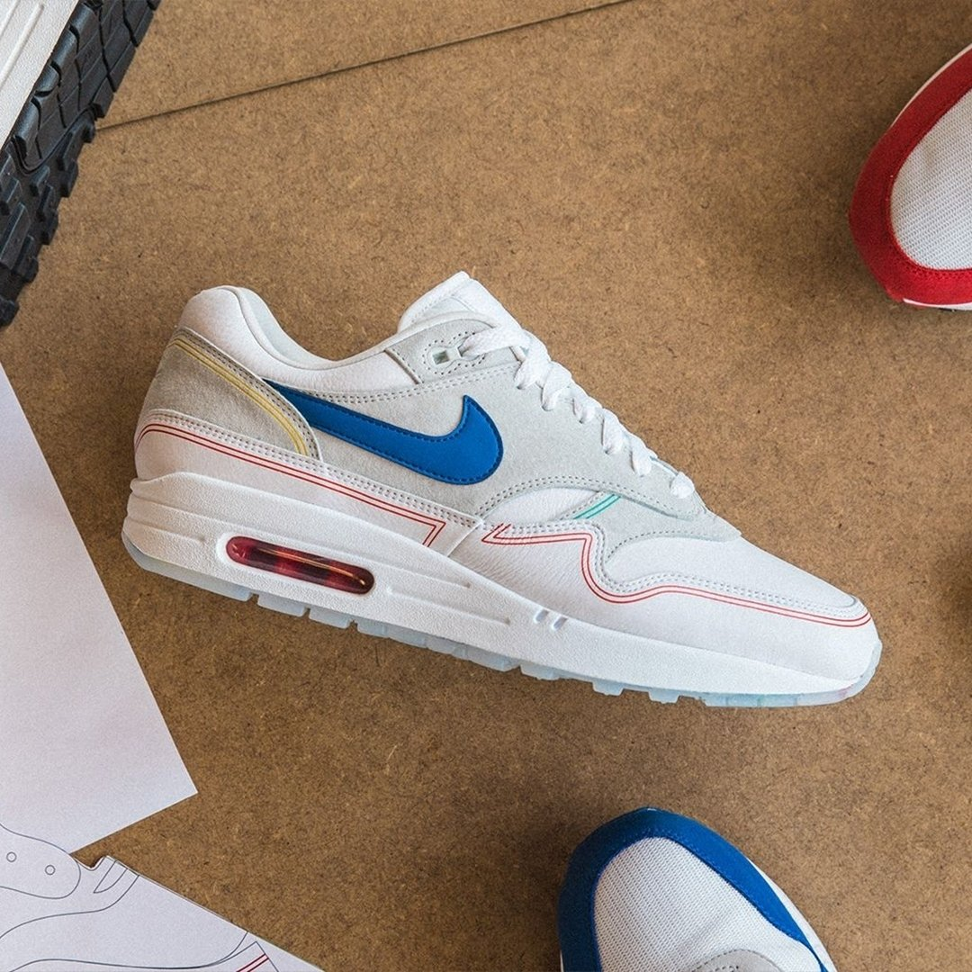 ... became the muse behind Tinker Hatfield s most revolutionary idea   visible Nike Air cushioning. The Air Max 1  By Day  is coming soon to  Footpatrol. 767c9250a