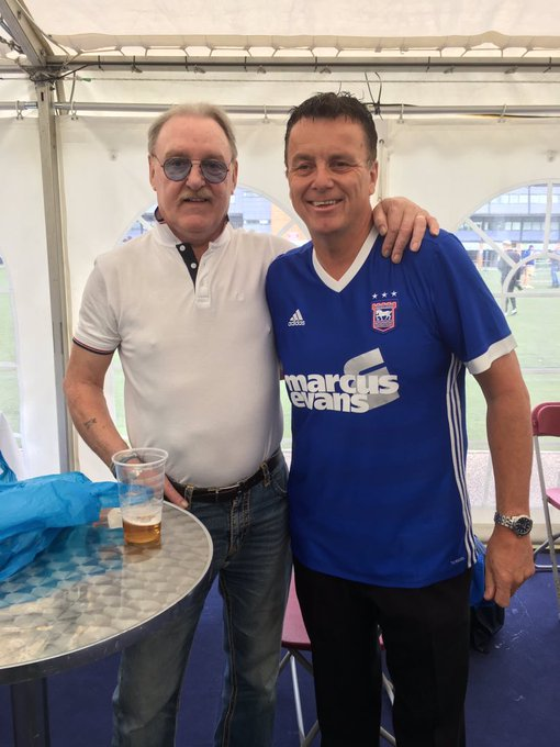 So shocked & saddened to hear my friend Kevin Beattie has passed away. In my opinion the greatest Ipswich Town player of all time. Kevin used to pick me up when I was a ball boy. Such a lovely man. My thoughts & prayers are with Kevin's family and friends. RIP mate. Photo