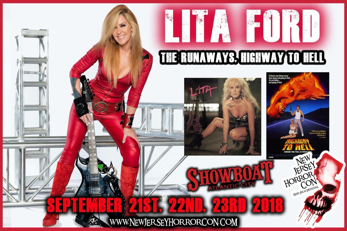 New Jersey! This Friday, Saturday & Sunday, Appearing at the @NJHorrorCon, (September 21, 22 & 23) in Atlantic City! Come on down and say hello. INFO: newjerseyhorrorcon.com/guests/