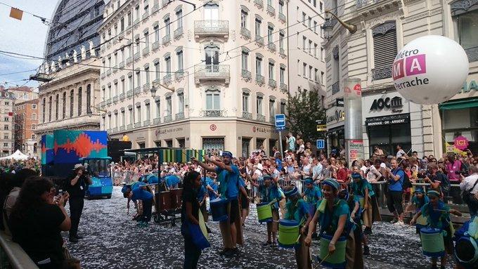 #biennaledeladanse Dance festival in the streets of Lyon Photo