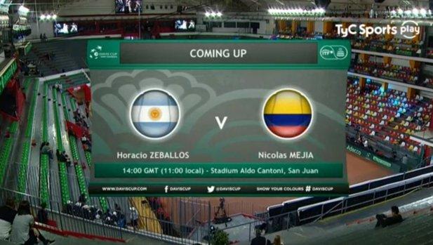 #CopaDavisEnTyCSports 🇦🇷Horacio Zeballos buscará cerrar la serie ante Colombia con un 4-0 y lo podés disfrutar EN VIVO y en exclusiva por acá 👉 🖥️💻📱📺 Foto