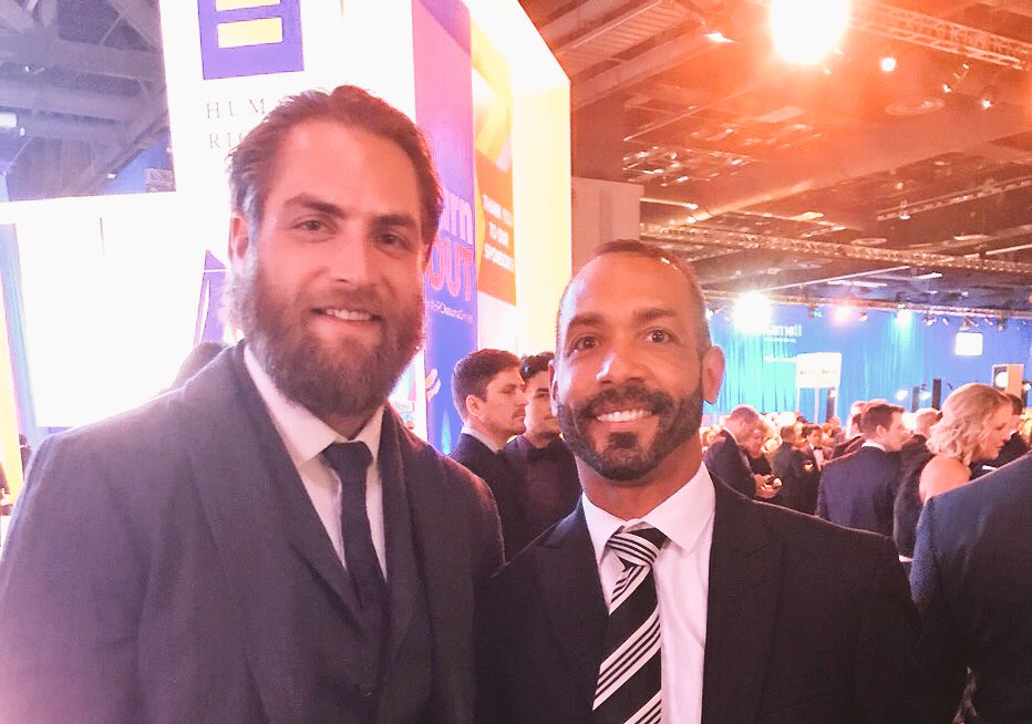 James Gargas On Twitter My Husband Fabsime And No Doubt Countless Others Was Thrilled That Braden Holtby Holts170 And His Wife Brandi Bbholtby Came Out To The Hrcnationaldinner Last Night To Support