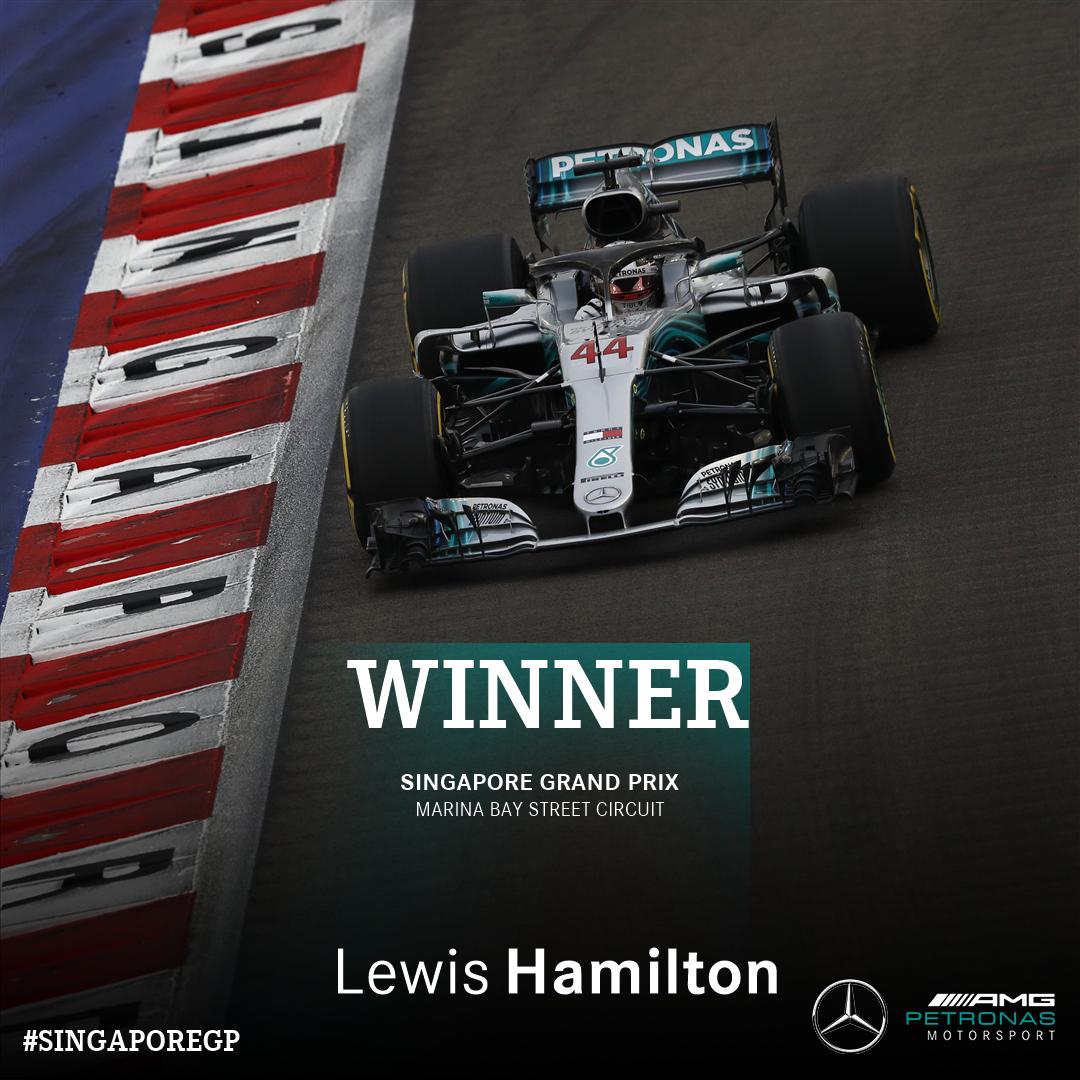 Lewis Hamilton wins the Singapore Grand Prix!