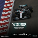 GET IN THERE LEWIS!!!! 👊@LewisHamilton WINS the #F1 #SingaporeGP in brilliant style!!!! 🇸🇬WHAT a performance!!!! YES YES YES!!!! 🙌