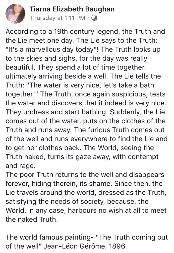 The Legend of the Naked Truth. https://t.co/vJrGArnohA