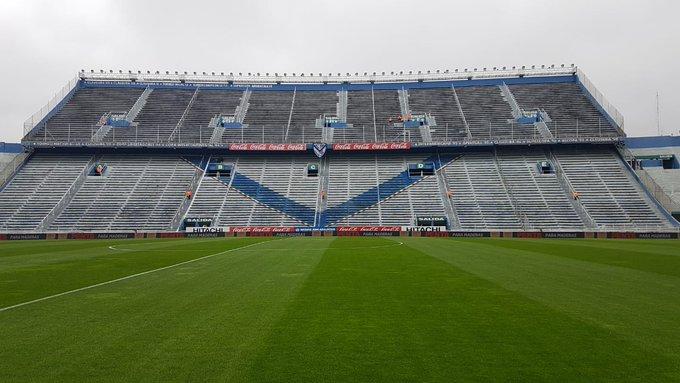 🔴⚪#Superliga Así luce el campo de juego del José Amalfitani. Hoy, el Santo busca su primer triunfo ante @Velez. ⚽#VamosCiudadela Foto
