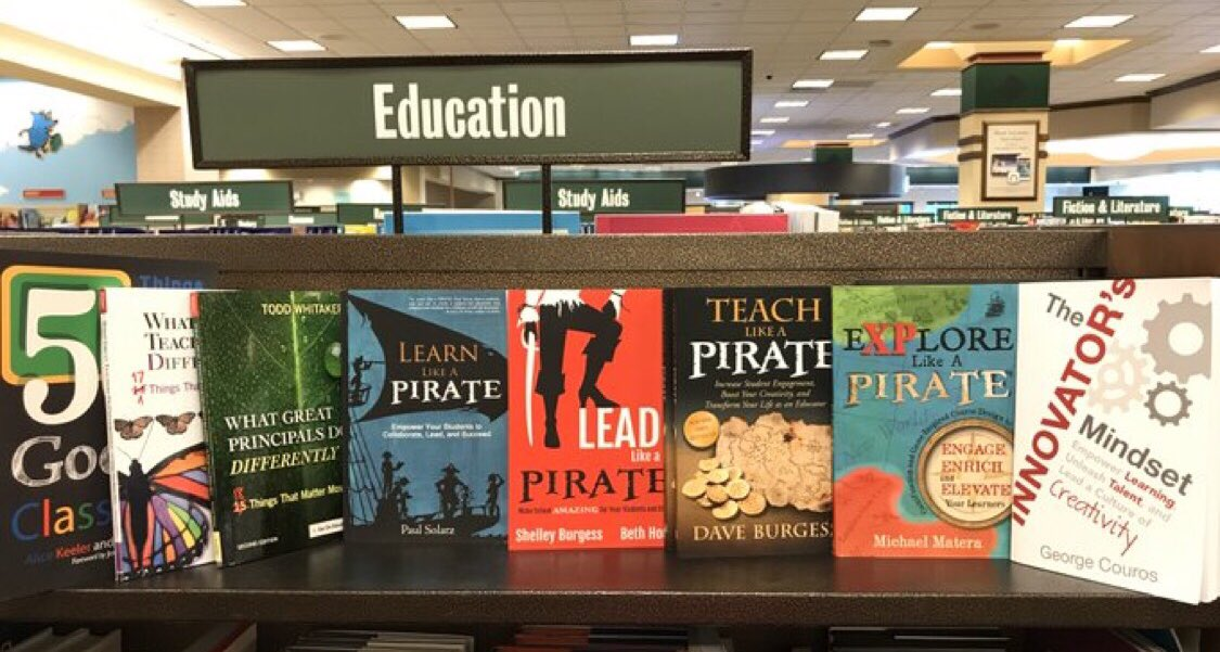 Tidied up this shelf a bit while browsing at Barnes & Noble recently...
