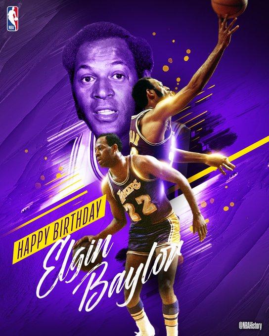 """NBA \""""NBAHistory: Happy 84th Birthday to 11x All-Star, 10x All-NBA & Hall of Famer, Elgin Baylor!"""