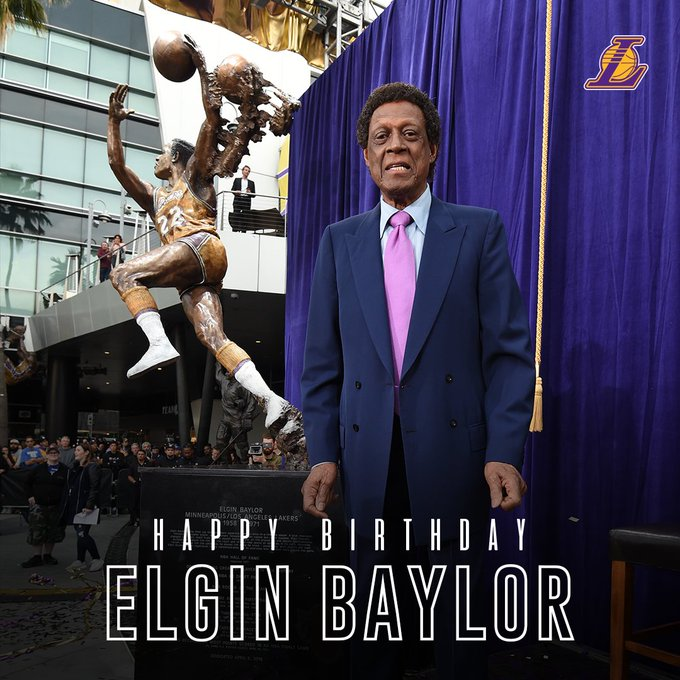 Happy Birthday to legend Elgin Baylor!