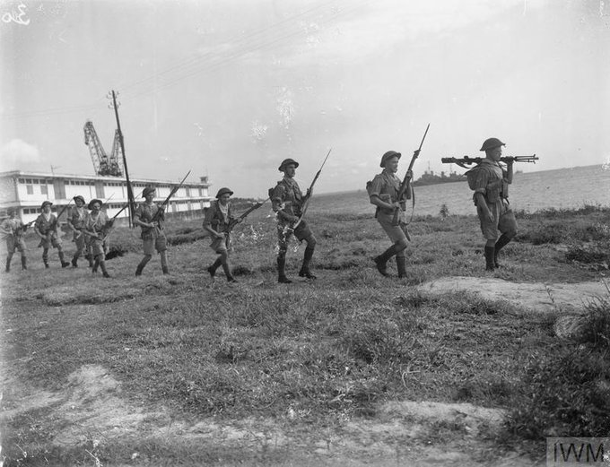 [76 years ago today] Troops advancing along the coast of Madagascar 1942 during the invasion of the Vichy held territory Photo