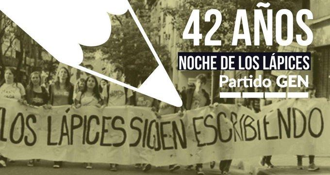 A 42 años de #LaNocheDeLosLapices #LosLapicesSiguenEscribiendo Foto