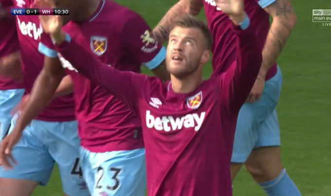 Andriy Yarmolenko becomes the first Ukrainian to score in the @premierleague since Andriy Voronin in May 2008 ⚽️ West Ham have lost both games that they've scored the first goal in this season Everton have failed to win any of the last 10 when conceding first Photo