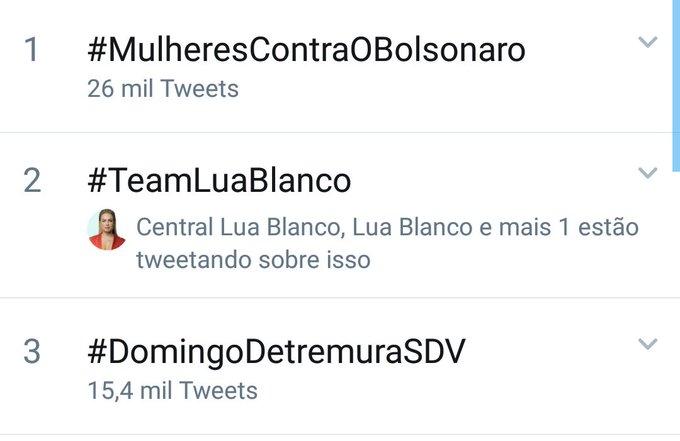 @Lua_Blanco Aqui mostra que estamos em Segundo #TeamLuaBlanco Foto