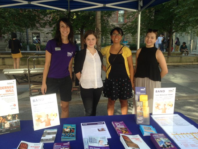 Our awesome @the_rcm team members at the @OpenStreetsTO activity hub today Photo