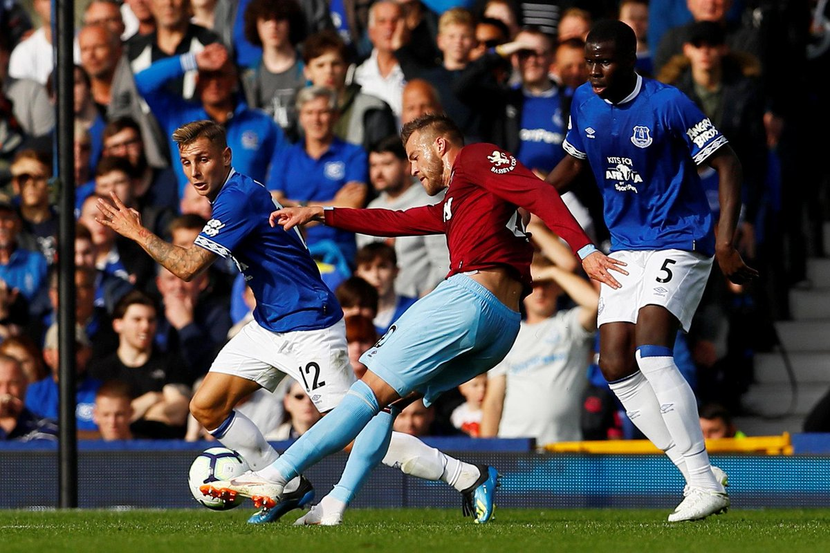 The story of a simply sumptuous strike 💥 Everton 0-2 West Ham (39 mins) #EVEWHU