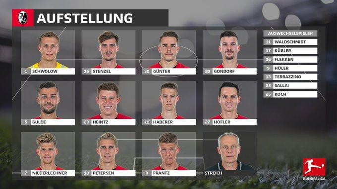 Diese Startelf schickt der @scfreiburg bei #SCFVfB ins Rennen! 👀⬇️ #Bundesliga Foto