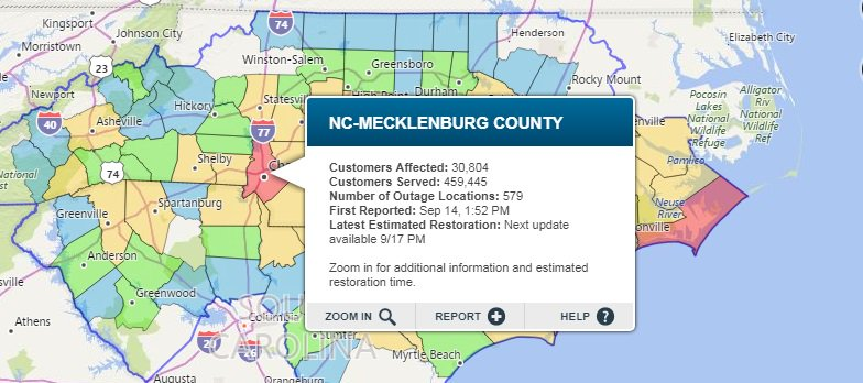 Greensboro Power Outage Map.Chris S Tweet Things Getting A Little Better Power Outage Wise